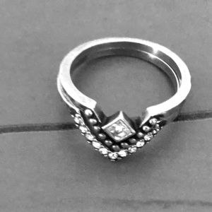 Silpada Fallen Angles Stack Rings Set of two